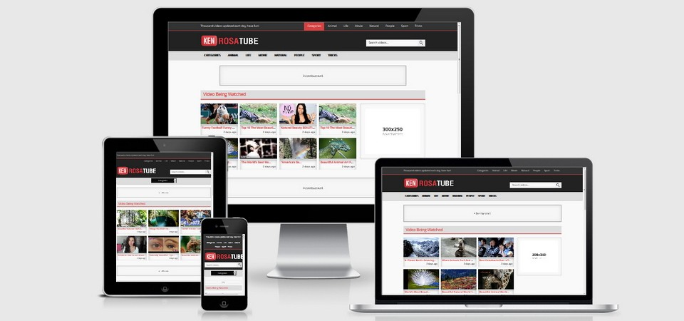 RosaTube Wordpress Video Theme